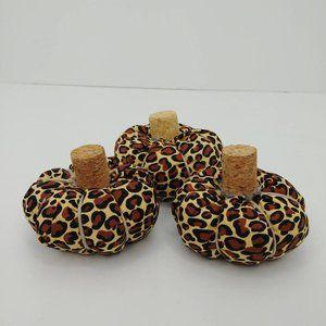 Mini Leopard Print Stuffed Fabric Pumpkins